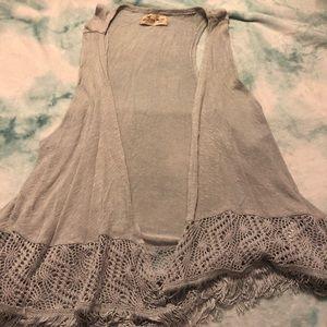 Boho Grey Cardigan/Vest